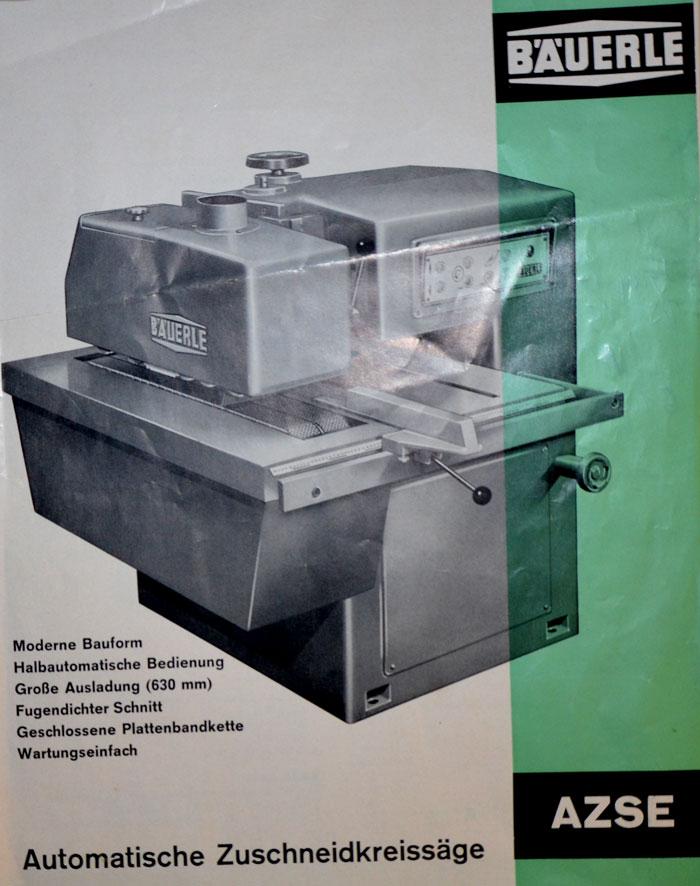 BÄUERLE Autom. Ein- u. Vielblattkreissäge System JOHN  Mod. AB 2