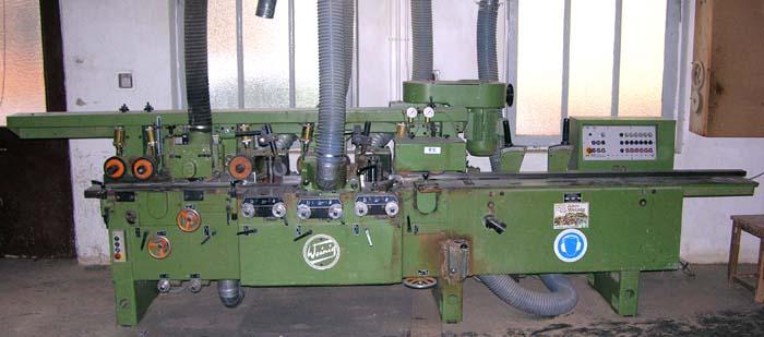 WEINIG ABRICHT- FÜGE- und Kehlautomat Mod. U 17 A, 6 ARBEITSWELLEN, HB 170 mm