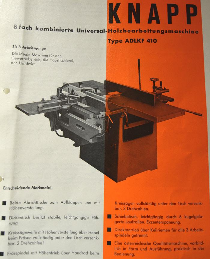KNAPP 5-fach Kombi- Holzbearbeitungsmaschine Mod. ADLKF 410