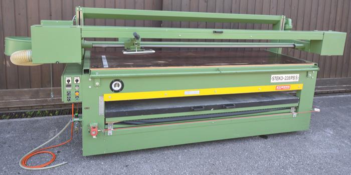 STEKO Kombination: Furnierpresse- Bandschleifmaschine Mod. 228 P.B.S