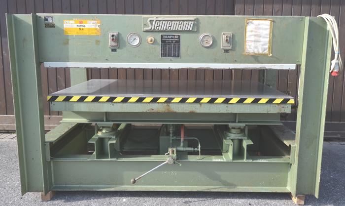 STEINEMANN Heizplattenpresse, elektrisch/ wasserbeheizt Mod. T-60