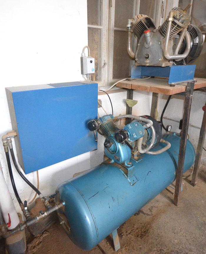 AGRE Kolbenkompressoranlage m. Kältetrockner Mod. zweistufig MEK 650 D